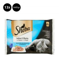 Sheba Mini filets in saus Vis klein - 13x 4x85g