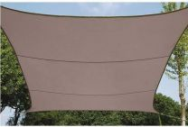 Schaduwdoek vierkant 5 x 5 m Taupe zonnezeil