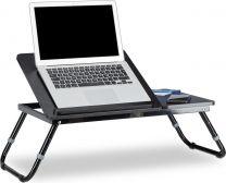 Laptoptafel hout - bedtafel - opklapbaar - bed bank tafel tafeltje relaxdays