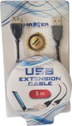 Maxxter USB Verleng Kabel 5 Meter Zwart