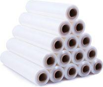 Wikkelfolie / rekfolie / stretchfolie - 20 my x 300 m x 50cm - transparant - 150% rekbaarheid - handmatig gebruik – prijs voor 6 rollen