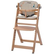 kinderstoel Safety 1st Timba met kussen - natural wood, happy day