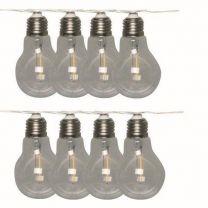 Solar verlichting party lampjes Luxform Lichtlijn Marbella Zonne-energie 3,8 Meter Glas Zwart