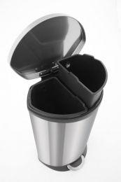 KOOPJESHOEK EKO Shell recycling Pedaalemmer - 22 + 22 l - Mat RVS