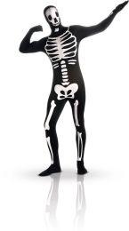 """""""Halloween kostuum tweede huid skelet fosforescerend - Verkleedkleding - Medium"""""""