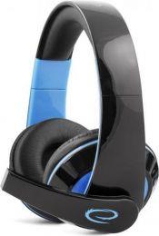 Gaming Koptelefoon Condor voor PS4, PC, Xbox One, Mac met Microfoon – Game Headset Over Ear – Stereo - Blauw/Zwart
