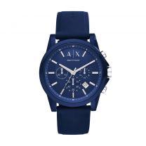 Armani Horloge  Exchange Blauw AX1327