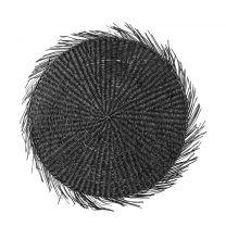 Bloomingville placemat (Ø38 cm) zwart
