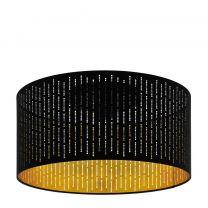 EGLO Varillas Plafondlamp - 1 lichts - Ø47,5 cm - E27 - Zwart