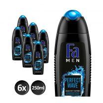 Fa Men Perfect Wave Douchegel 6x 250ml - Voordeelverpakking