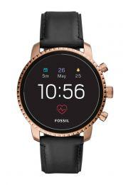 Fossil Smartwatch Q Explorist HR Roestvrijstaal GPS - Roségoud