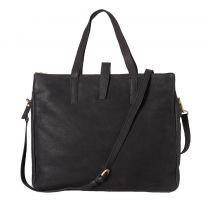 Fred de la Bretoniere Handbag Heavy Grain leather super black