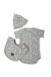 IMPS&ELFS baby geschenkset met romper, mutsje en slab