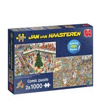 Jan Van Haasteren Kerstkoopjes & Black Friday puzzel - 2 x 1000 stukjes