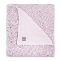 ledikantdeken Jollein baby 100x150cm Confetti Knit vintage pink/teddy