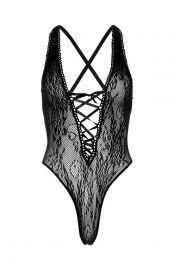 Leg Avenue +size fishnet stringbody zwart