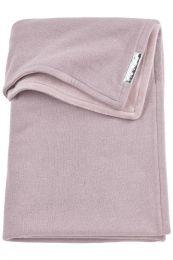 Meyco Knit basic met velvet ledikantdeken - 100x150cm - Lilac