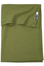 Meyco Knit basic wiegdeken - 75x100cm - Avocado