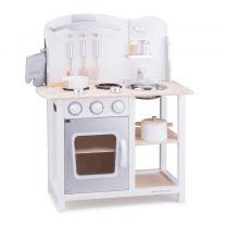 Kinderkeuken New Classic Toys - - Bon Appetit - Wit/Zilver