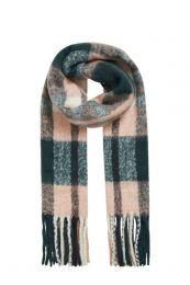 OBJECT geruite sjaal met franjes marine