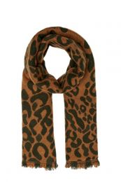 ONLY sjaal met panterprint bruin