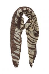 PIECES sjaal met zebraprint bruin/beige