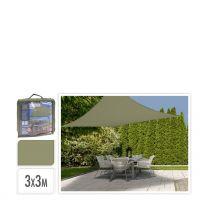 Schaduwdoek (3x3 m) olijf groen