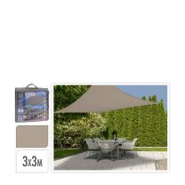 Schaduwdoek - Vierkant 3x3m - Zand