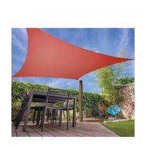 Ambiance Schaduwdoek Vierkant 5 X 5 Meter Polyester Terracotta