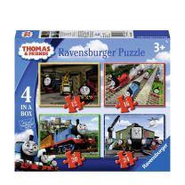 Ravensburger Thomas & Friends 4in1box puzzel - 12+16+20+24 stukjes - kinderpuzzel