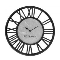 Riverdale - Wandklok Derby zwart 50cm