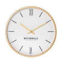 Riverdale wandklok Milena (Ø40cm) goud / wit