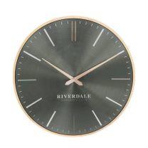 Riverdale wandklok Milena (Ø40cm) groen