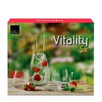 Royal Leerdam Vitality waterglazenset met karaf (set van 5)