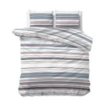 dekbedovertrek 2 persoons Sleeptime katoenen /polyester  streep multi
