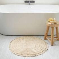 home badmat (72 x 72 cm) cremé