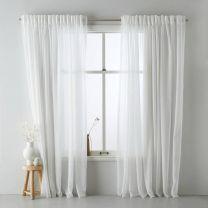 Home vitrage kant en klaar transparant gordijn (per stuk) (150 x 315 cm) off white