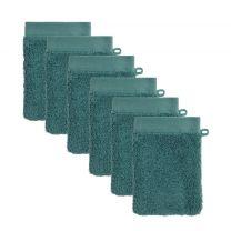 washand hotelkwaliteit (set van 6) (23.5x15.5 cm) Groenblauw