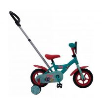 Woezel & Pip 10 inch kinderfiets turquoise/rood